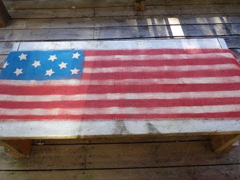 Patriotic Burlap Table Runner