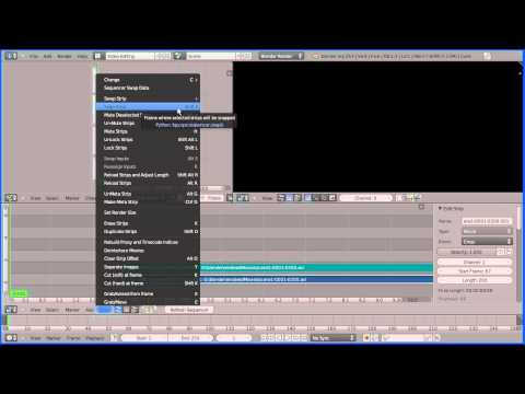 Blender 2.6 Tutorial - Using the Video Editor to Join Clips, Rendering Multiple Scenes
