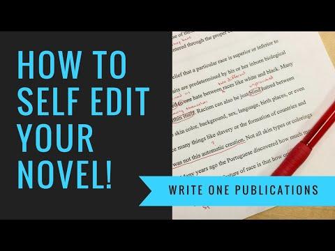 Self Editing Your Novel