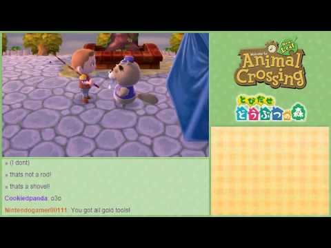 Animal Crossing NL (J3DS) Gold Rod + One short fishing competition