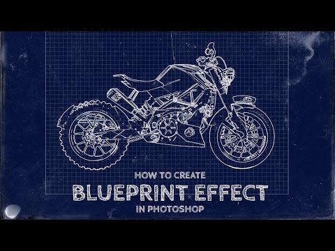 How To Create a Fake Blueprint Effect in Photoshop