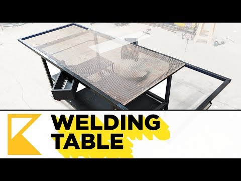 Build Welding Table with Extension Arms