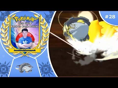 Pokémon Ultra Sun and Ultra Moon VGC 2018 Baek to Baek Battles - Episode 28: Donphan's Pummeling