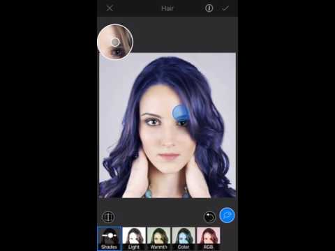 Smart hair selection and color change using LightX