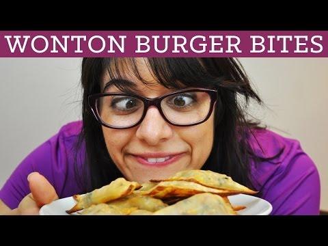 Wonton Burger Bites - Mind Over Munch