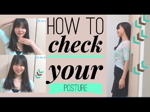 Check Your Posture against a Wall | Don't Arch Too Much When You Try to Have Good Posture