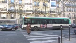 Buses In Paris, France