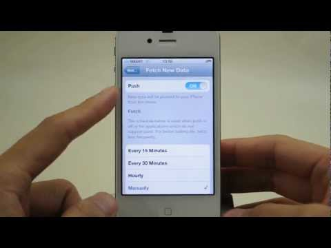 Apple iPhone 4s: Email Retrieval Settings