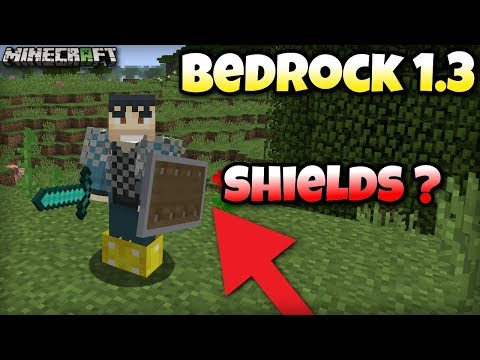 Minecraft Bedrock 1.3 -  SHIELDS are coming?  - Xbox / MCPE / Windows 10 / Switch