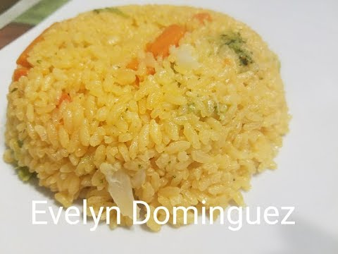 Rice with Vegetables and Creamy lighlty Cheese Sauce