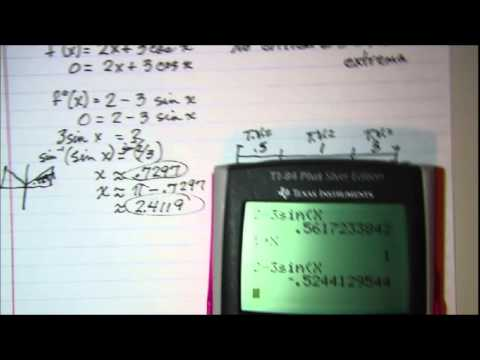 Using the 2nd Derivative Test to find relative Extrema 2