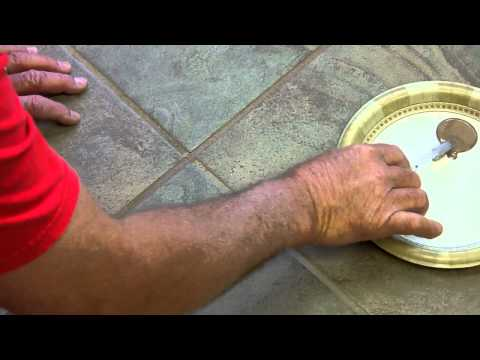 How to stain grout