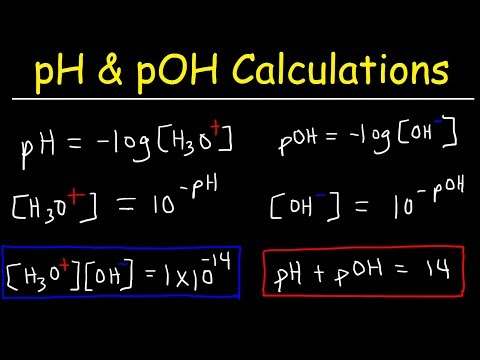 pH, pOH, H3O+, OH-, Kw, Ka, Kb, pKa, and pKb Basic Calculations -Acids and Bases Chemistry Problems