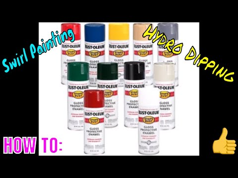 HOW TO HYDRO DIP WITH SPRAY PAINT! *Super Easy*