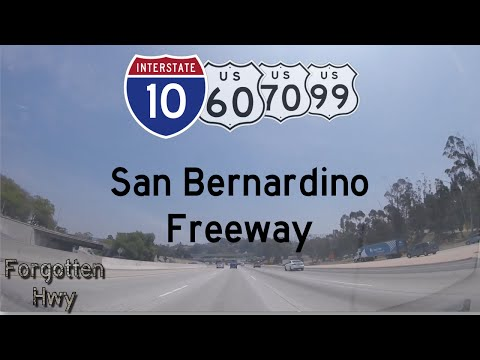 I-10 East - The San Bernardino Freeway, Part One. US 101 to SR 71, Exit 19 to 42.