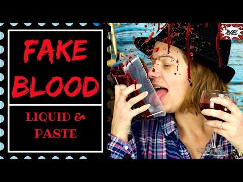 Easy Halloween Makeup | How to make Fake Blood at home 3 edible recipes