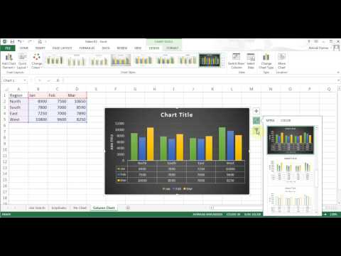 Microsoft Excel 2013/2016 pt 9 (Pie/Column Chart, Pivot Table)