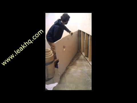How to cut Drywall out that is mold contaminated in a finished basement flood.