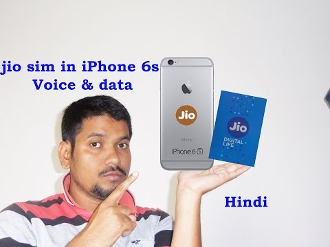 Hindi || how use jio sim in iPhone 6s for voice and data