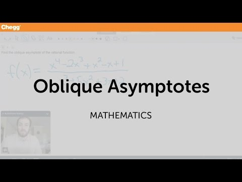 Oblique Asymptotes | Math | Chegg Tutors