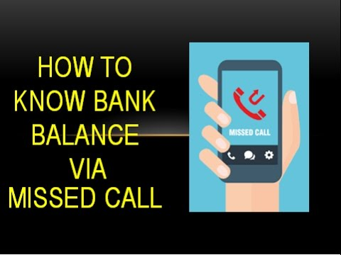 How to check your Bank Balance using missed call | English