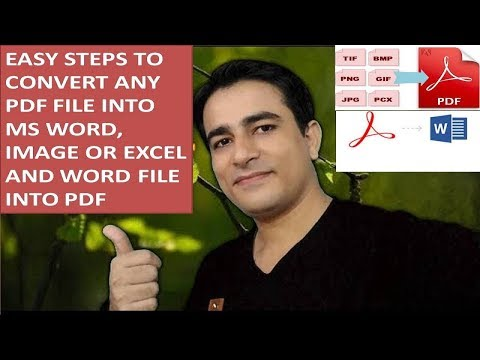 Easy Steps To #Convert PDF FILE INTO WORD, EXCEL, IMAGE, (JPG)  OR WORD FILE INTO PDF ONLINE
