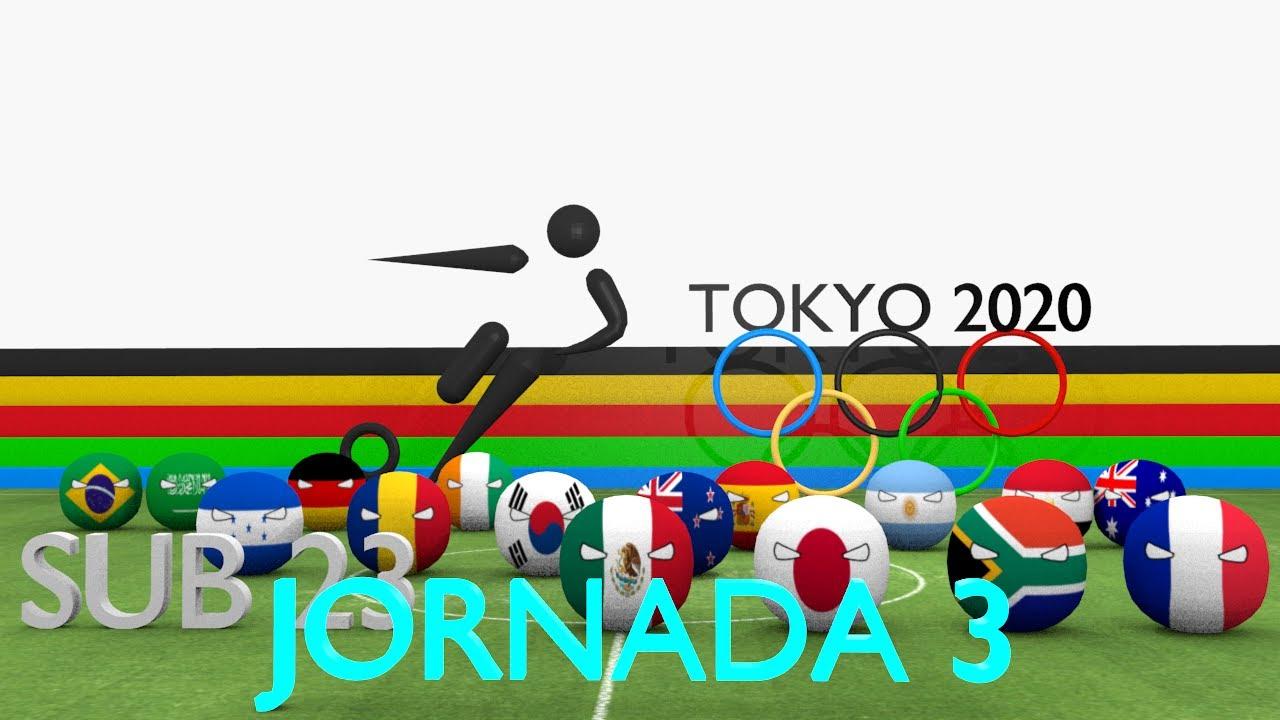Futbol - Juegos Olimpicos 2020 - JORNADA 3 - Countryballs 3D