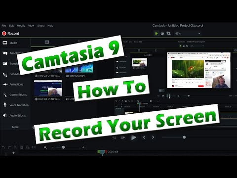 Camtasia 9 Tutorial - Getting Started 01 - How To Record Your Screen
