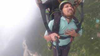 Paragliding India Funny video| scared man| very funny must watch till end