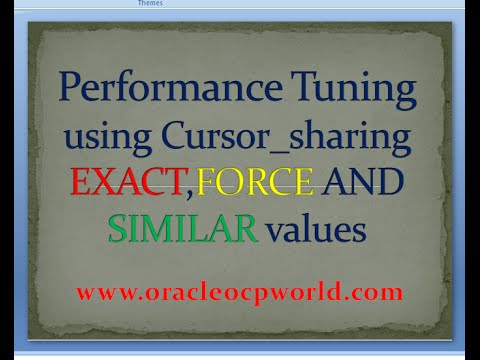 Performance Tuning using Cursor_sharing in oracle 11gR2