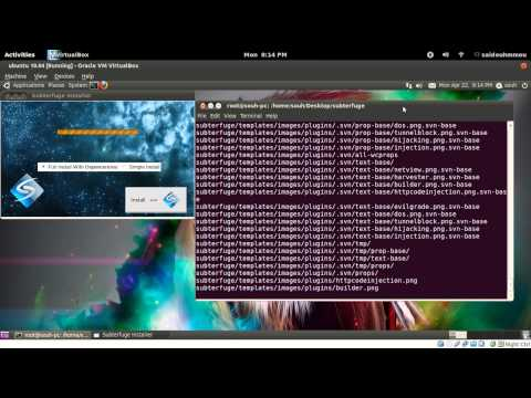 Sniffing user login and password with Subterfuge in ubuntu