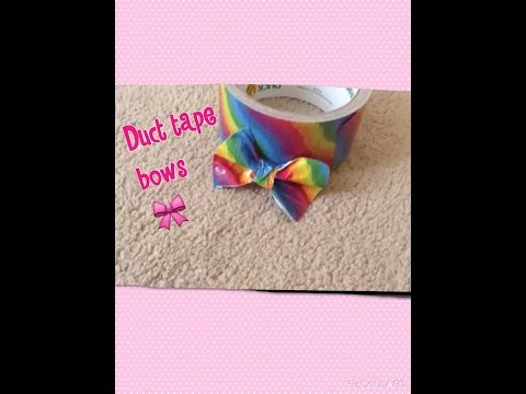 Duct Tape Bows!!! Super Craftastic-How To