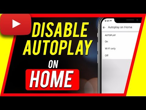 How to disable AutoPlay on Home feature on YouTube