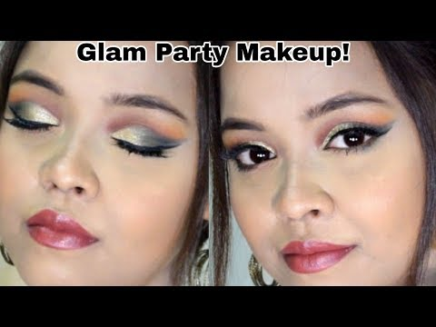 GLAM Party Makeup look ft. Makeup Revolution Iconic Division Palette || Sayantani Some