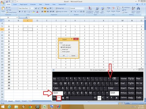 Shortcut key to Insert/Delete Rows & Columns in MS Excel