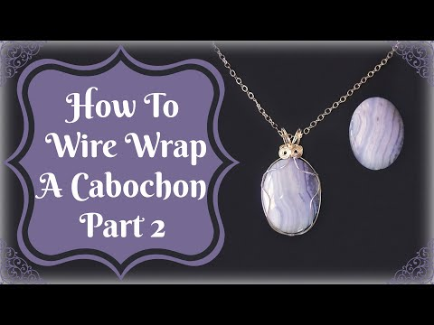 How To Wire Wrap A Cabochon Part 2 From Javi at B'sue Boutiques