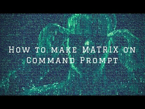 How to make Matrix Rain In Command Prompt [EASY TUTORIAL]
