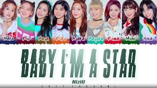NiziU – 'BABY I'M A STAR' Lyrics [Color Coded_Kan_Rom_Eng]