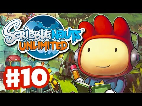 Scribblenauts Unlimited - Gameplay Walkthrough Part 10 - Grave Manor (PC, Wii U, 3DS)