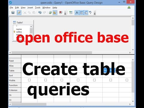 [hindi]create table and queries in open office database