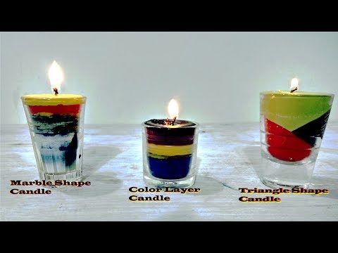 How to Make Color Candle at Home