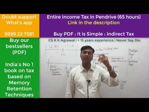 Registration in service tax (Entire Indirect tax class free for CA IPCC)