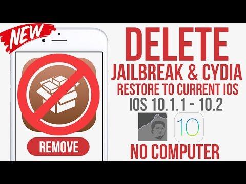 Remove Cydia & Jailbreak + Restore iPhone to existing iOS firmware 10.1.1 - 10.2