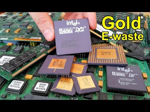 💰 How to Recover Gold from e-waste. Recycling gold electronic scraps computer chips and circuits.