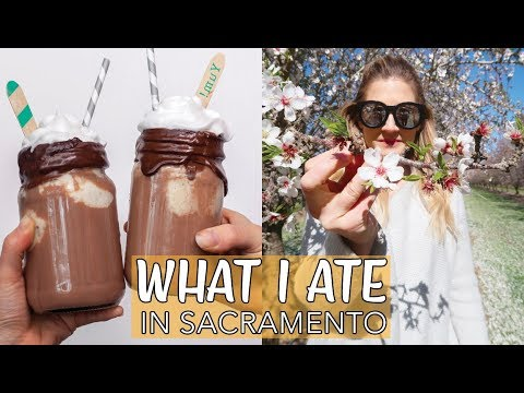 WHAT I EAT IN A DAY (VEGAN) | I Went to A Blue Diamond Orchard | ICE CREAM FLOAT RECIPE | Edgy Veg