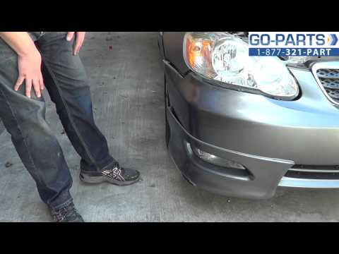 Replace 2003-2008 Toyota Corolla Bumper Cover, How to Change Install 2004 2005 2006 2007