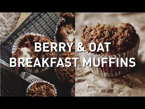 BERRY & OAT BREAKFAST MUFFINS // VEGAN + GF + OIL FREE + REFINED SUGAR FREE