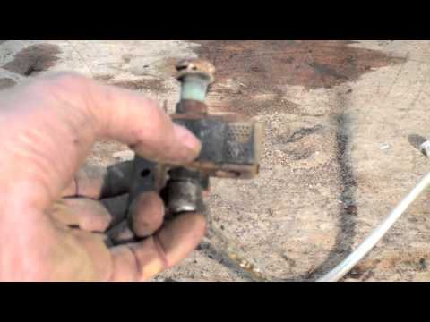 Antique gas furnace, cleaning the burners and pilot part 4