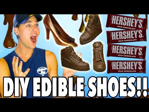 DIY Chocolate Shoes! How To Make Edible Chocolate Shoes! *EPIC FAIL*