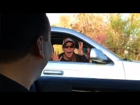 NASCAR driver stuns fan with surprise drive-by